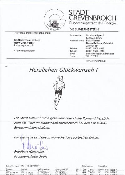 Ergebnisberichte 2009 – SG Neukirchen Hülchrath